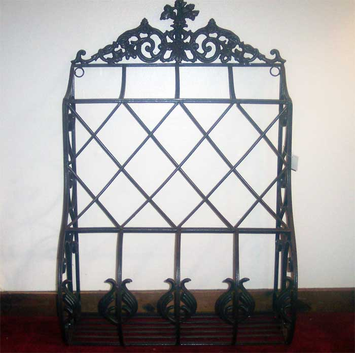 Iron Window Grid Planter Box Antique Black Finish Ebay