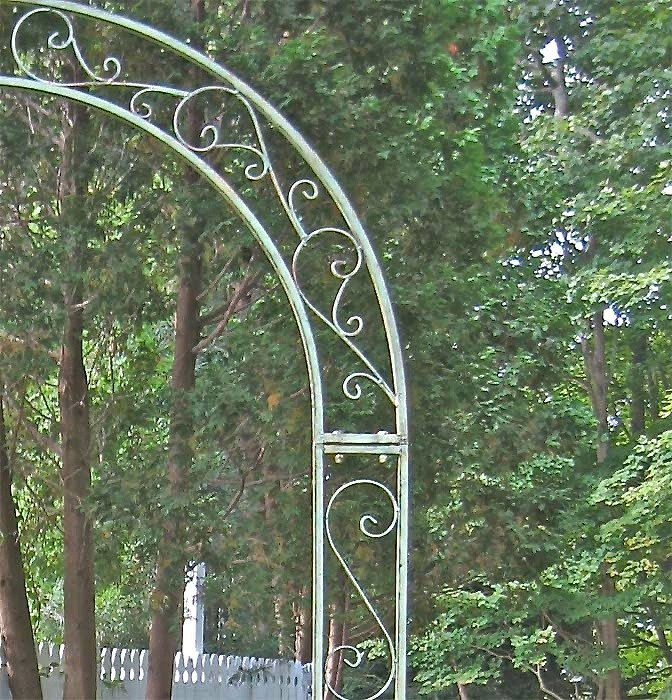 Garden Arch Trellis W Side Plant Stands Wrought Iron