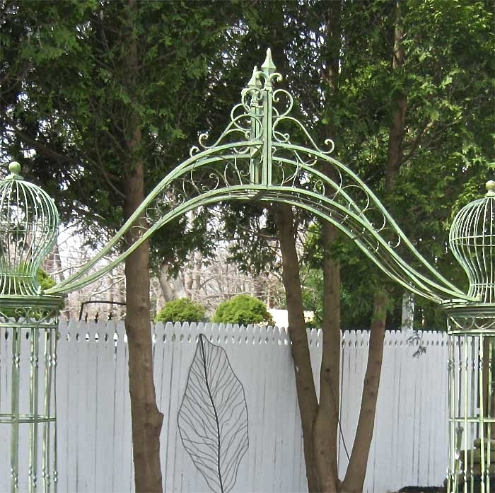 Garden Trellis Arch 9 Tall Wrought Iron Antique Mint