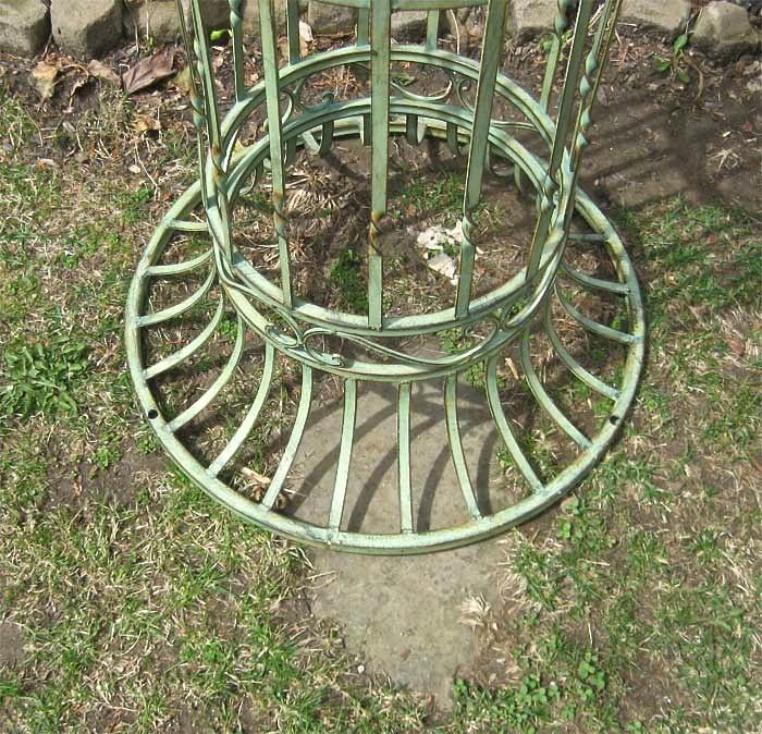Garden Trellis Arch 9 39 Tall Wrought Iron Antique Mint