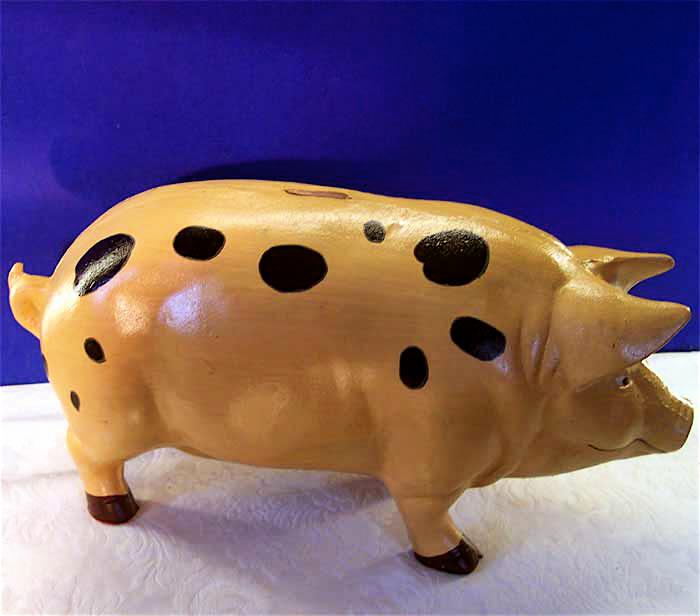 Huge Pig Piggy Bank Door Stop Garden Cast Iron Ebay