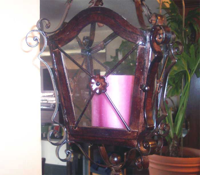 Iron Hanging Candle Lantern with Wall Bracket eBay