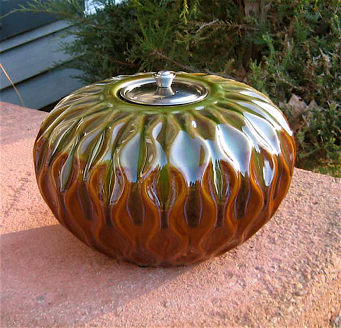 Fire Pot Outdoor Ceramic Fire Lamp W 32 Oz Fire Gel
