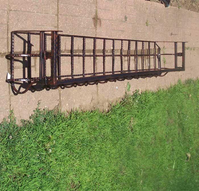 "76""Super Sized Iron Window Box/Wall Planter Rust"