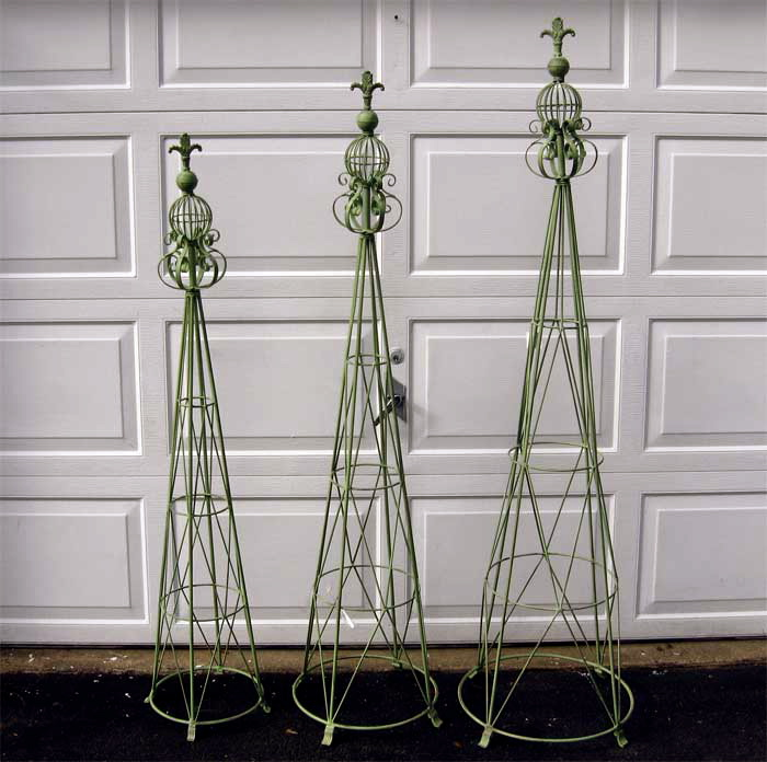 Trellis Garden Set of 3 Wrought Iron Mint Green eBay